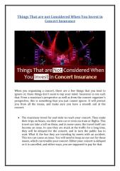 Things That are Not Considered When You Invest in Concert Insurance.pdf