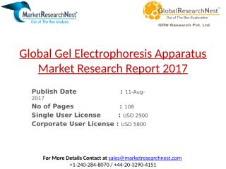 Global Gel Electrophoresis Apparatus Market Research Report 2017.pptx