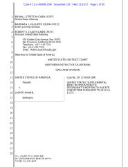 2017-11-13 U.S. Supplemental Brief in Opposition to Jasper Knabb's Motion to Vacate Conviction.pdf