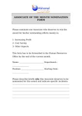 ASSOCIATE OF THE MONTH NOMINATION FORM.doc