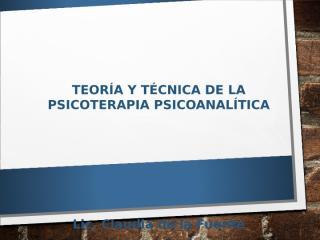 17 L 2° parcial Psicoterapia Psicoanálitica (P.P).ppt