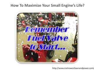 How To Maximize Your Small Engine's Life.pdf