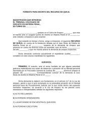 FORMATO PARA ESCRITO DEL RECURSO DE QUEJA..rtf