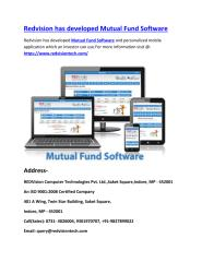 5 june 18 Redvision has developed Mutual Fund Software.pdf